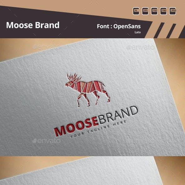 Moose Brand Logo Template