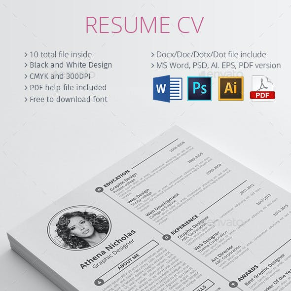 Pdf Resume Graphics Designs Templates From Graphicriver