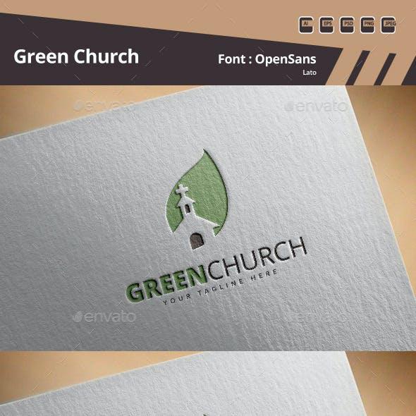 Green Church Logo Template
