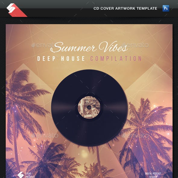 Summer Vibes - Deep House CD Cover Template