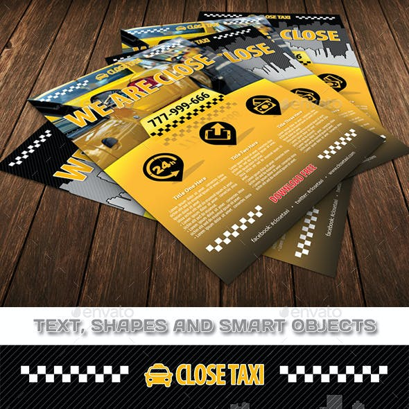 Taxi Cab Service Flyer Template 84