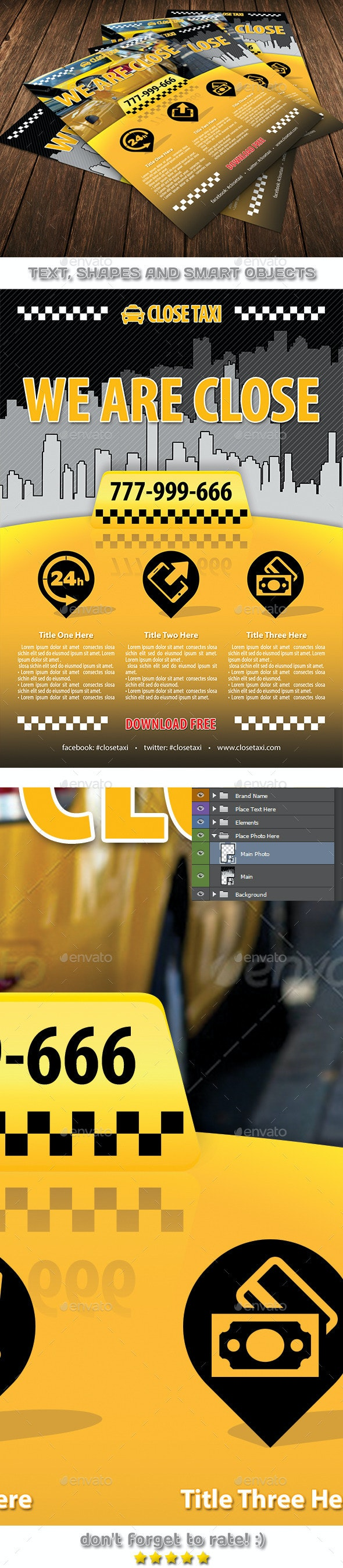 Taxi Cab Service Flyer Template 84 - Corporate Flyers