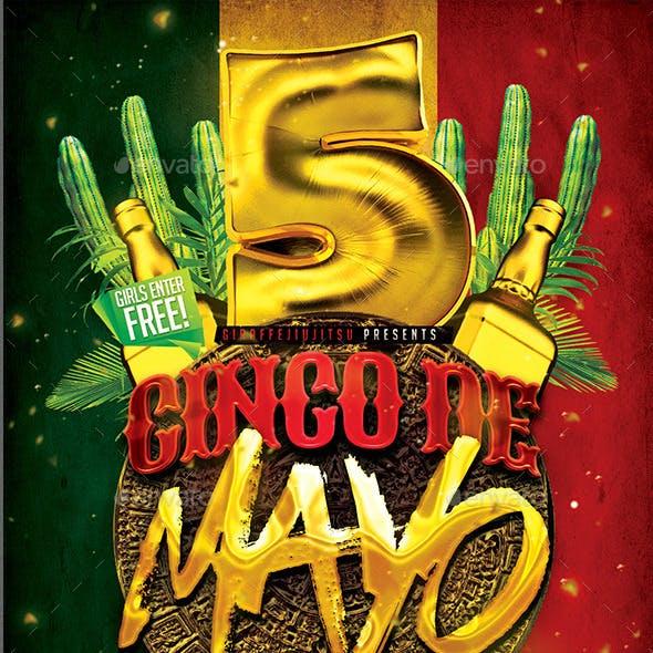Cinco De Mayo Flyer Template #2