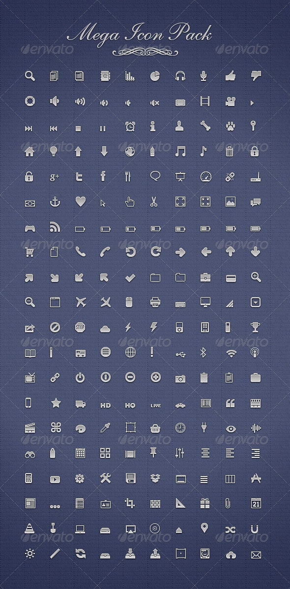 Mega Icon Pack  - Web Icons