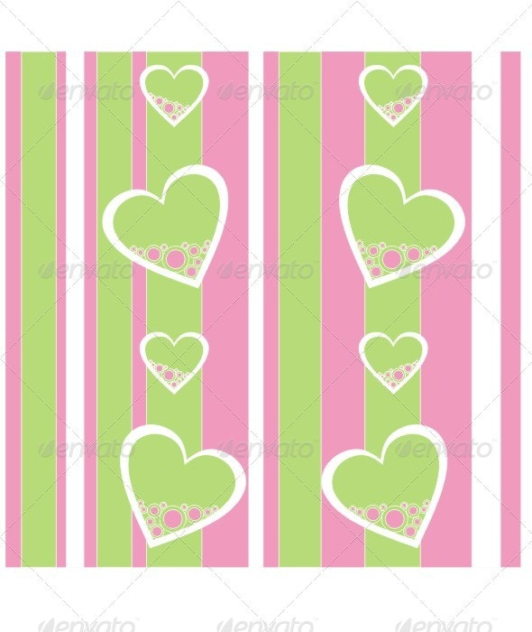 Seamless Ornament With Heart 422 - Patterns Decorative