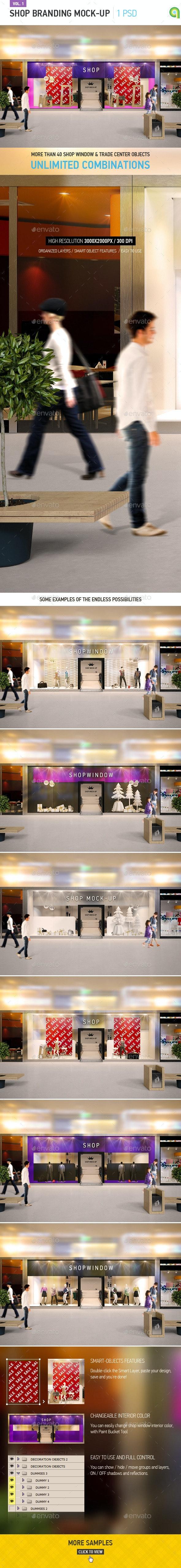 Shop Window Branding Mock-up - Logo Product Mock-Ups