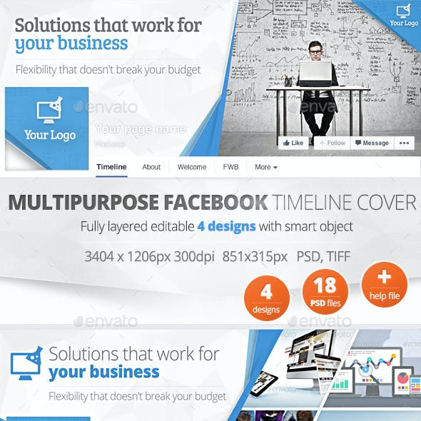 Multipurpose Facebook Timeline Cover