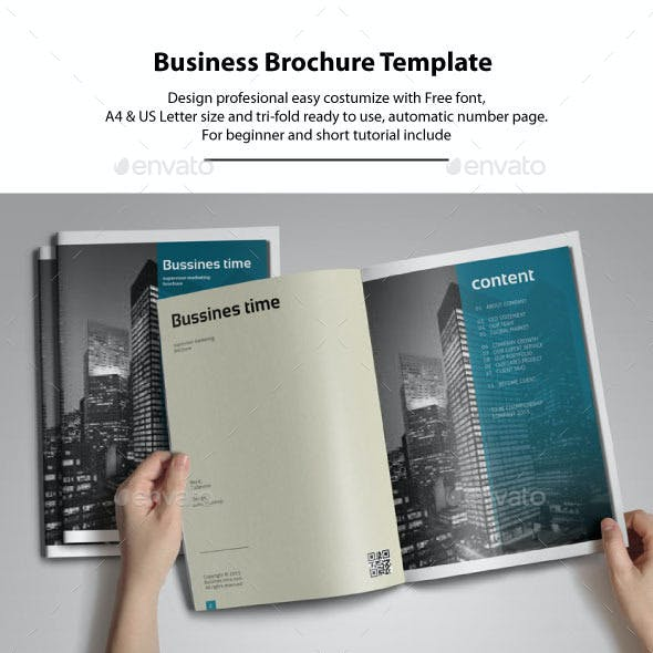 14 Pages + Tri-fold Brochure Business