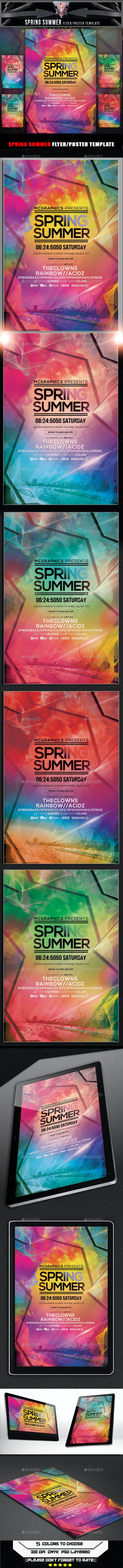 Spring Summer Flyer Template - Flyers Print Templates