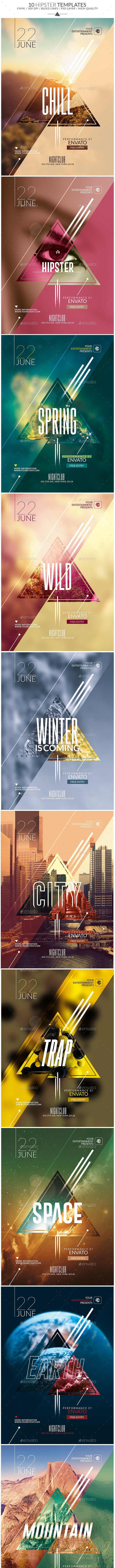 Package Hipster   Psd Templates - Clubs & Parties Events