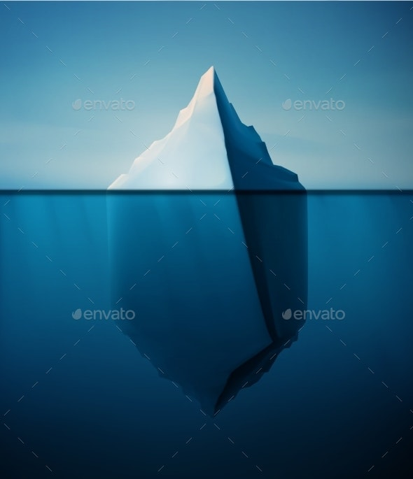 Lonely Iceberg - Landscapes Nature