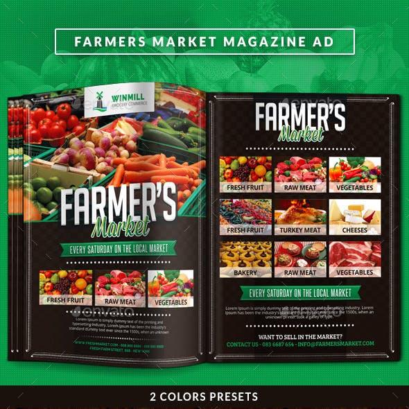 Farmer's Market Commerce Magazine Ad