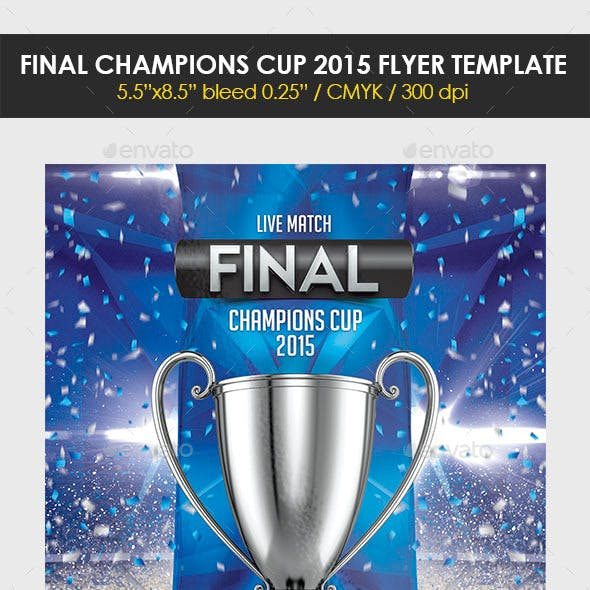 Final Champions Cup 2015 Flyer Template