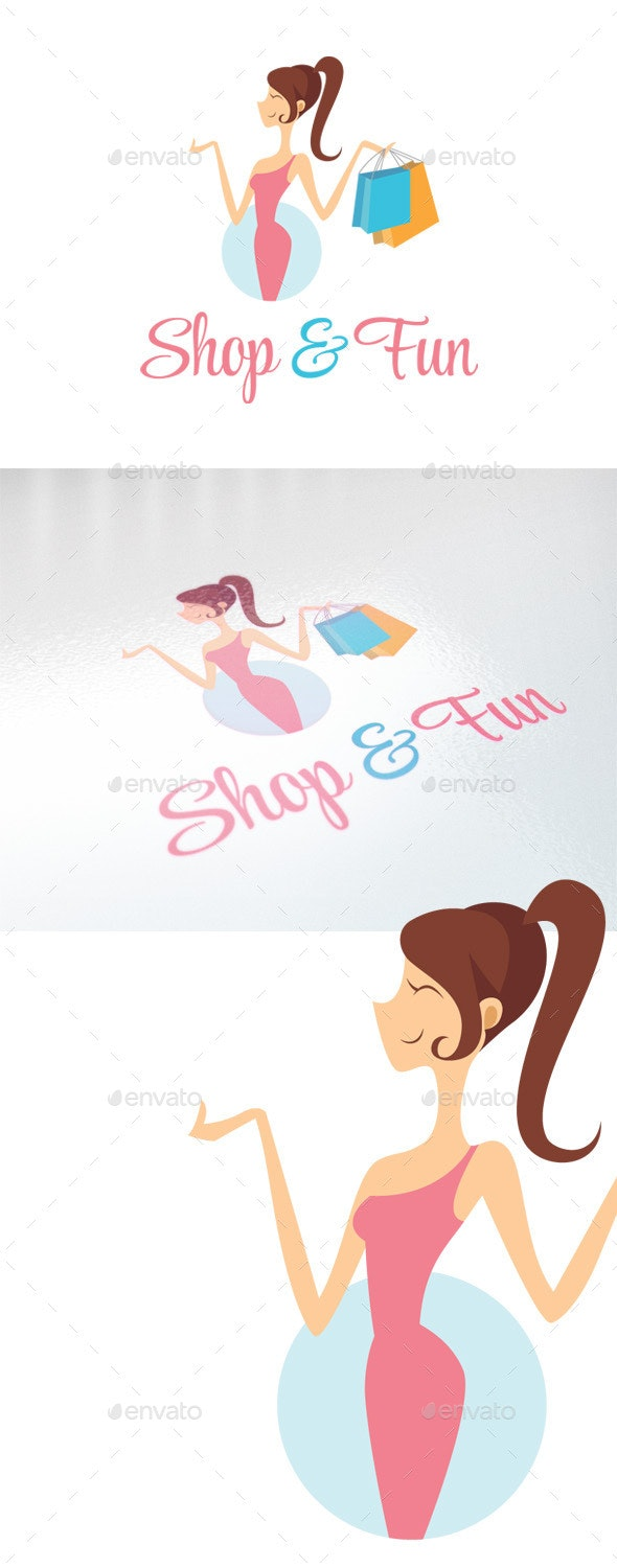 Shop & Fun - Retail, Boutique & Fashion Logo - Humans Logo Templates