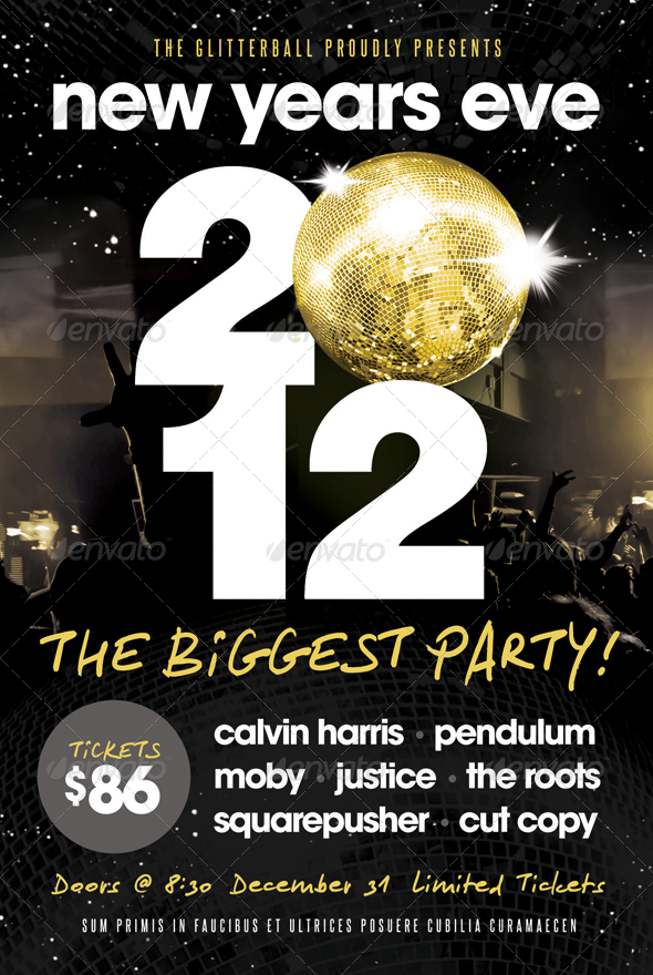 New Years Eve - Flyer Template - Clubs & Parties Events