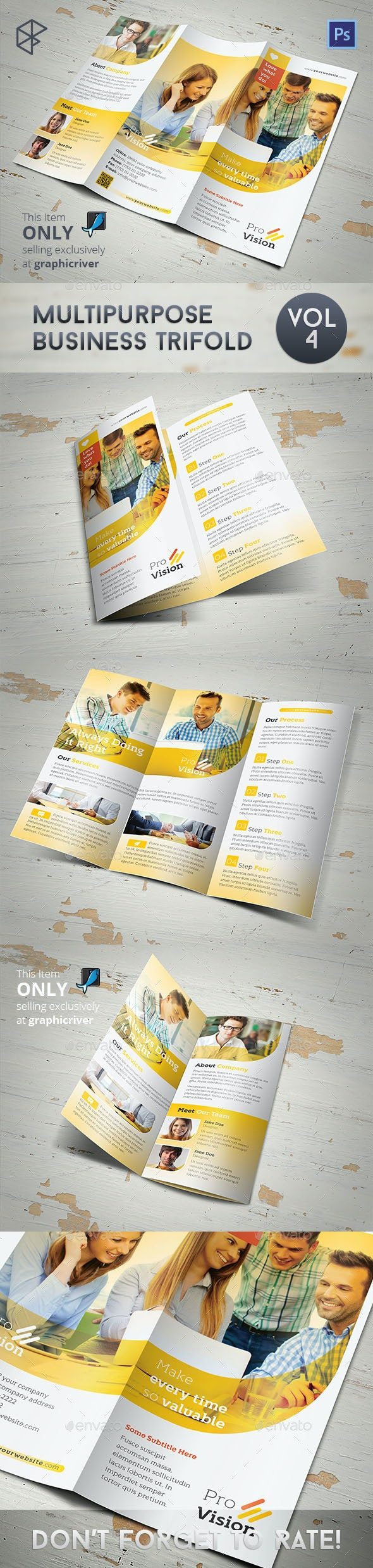 Multipurpose Business Trifold Vol 4 - Corporate Brochures