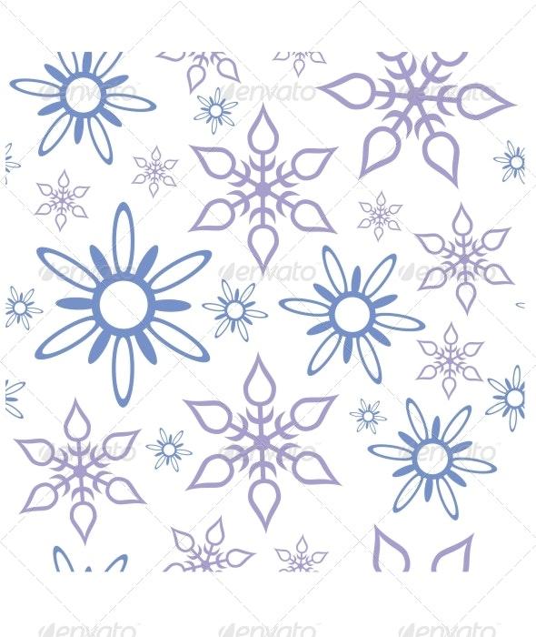 Seamless Ornament Snowflake 467 - Patterns Decorative