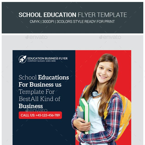 High School Education Flyers Bundle