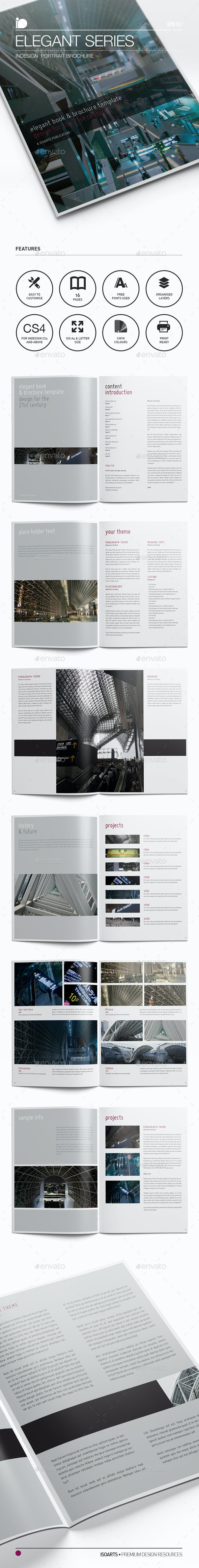 Portrait Brochure • Elegant Series - Corporate Brochures