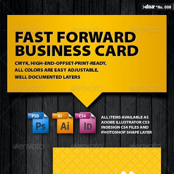 Fast Forward Business Card