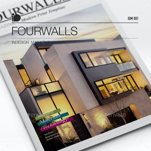 Magazine Template • Fourwalls