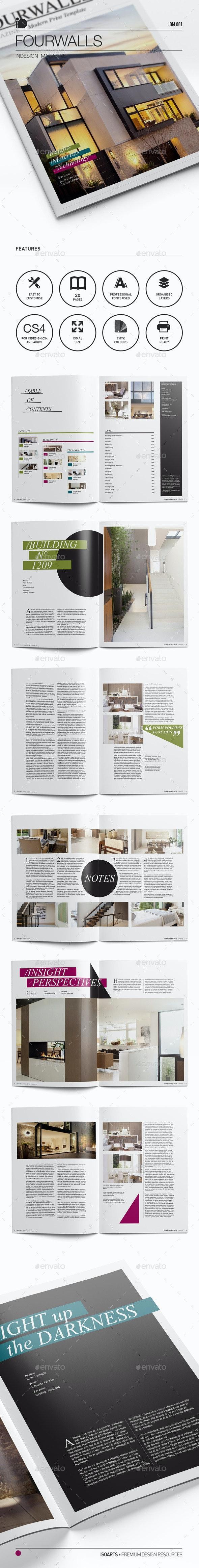 Magazine Template • Fourwalls - Magazines Print Templates