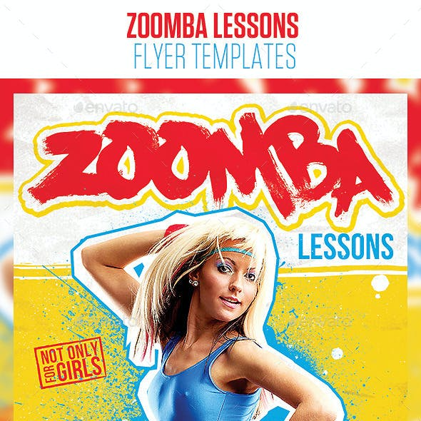 Zoomba Lessons Flyer Template