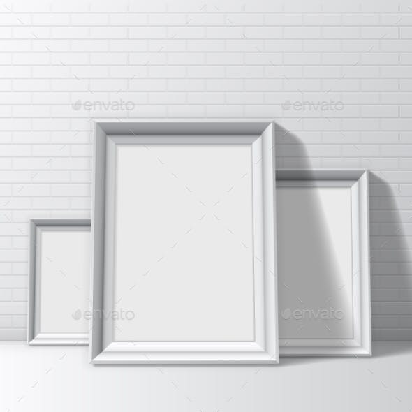 Blank White Pictures Frames