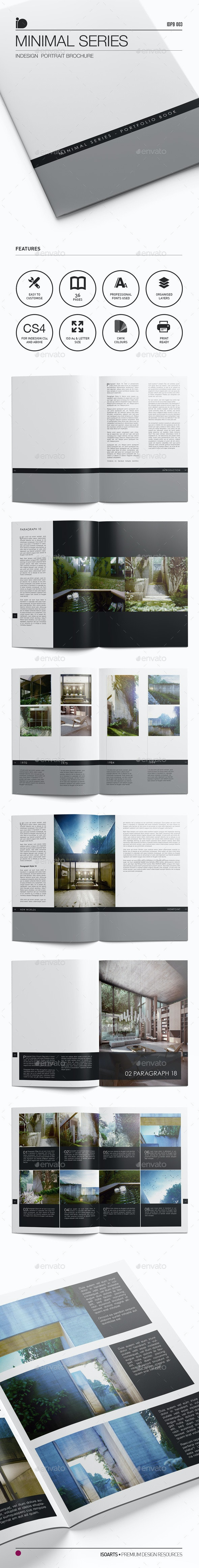 Portrait Brochure • Minimal Series - Portfolio Brochures