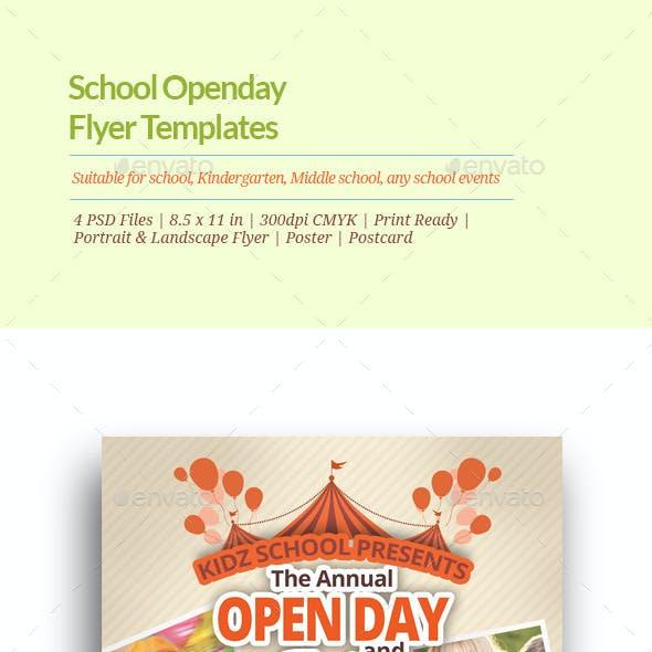 School Open Day Flyer Templates