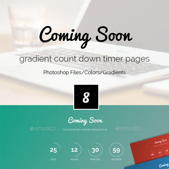 Gradient Coming Soon PSD Template