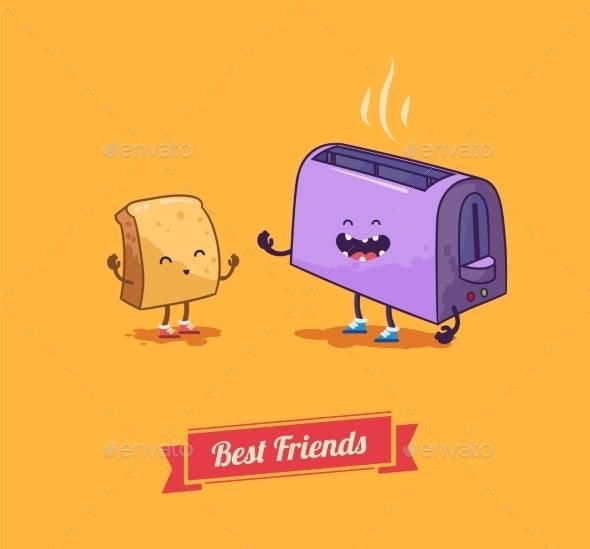Best Friends - Food Objects