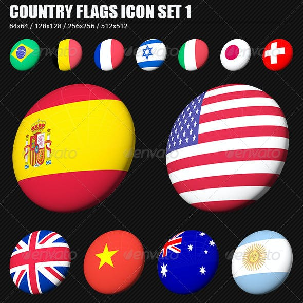 Country Flags PNG Icon Set 1