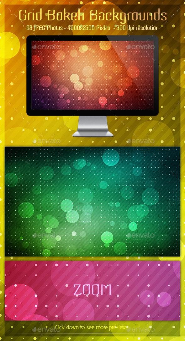 Grid Bokeh Backgrounds - Patterns Backgrounds