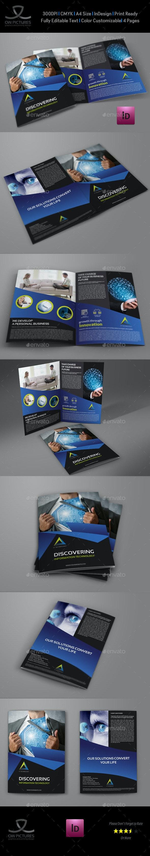 IT Company Brochure Bi-Fold Template - Brochures Print Templates