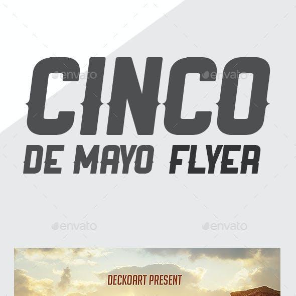5 De Mayo Party Flyer