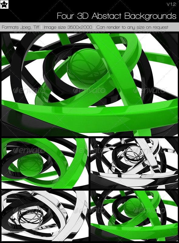 4 3D Abstact Backgrounds - 3D Backgrounds