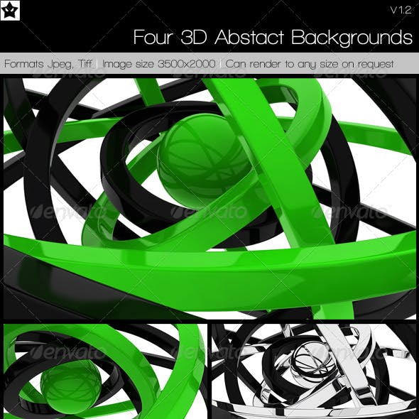 4 3D Abstact Backgrounds