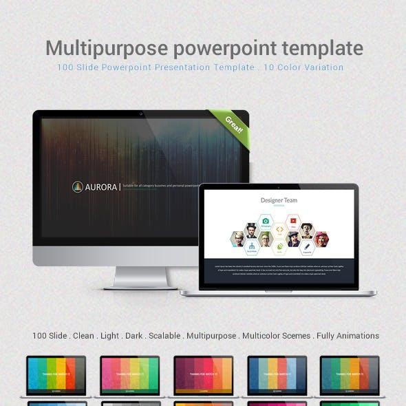 Aurora - Multipurpose Powerpoint Template
