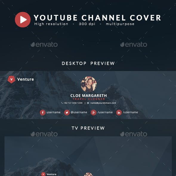 Youtube Channel Art - Venture