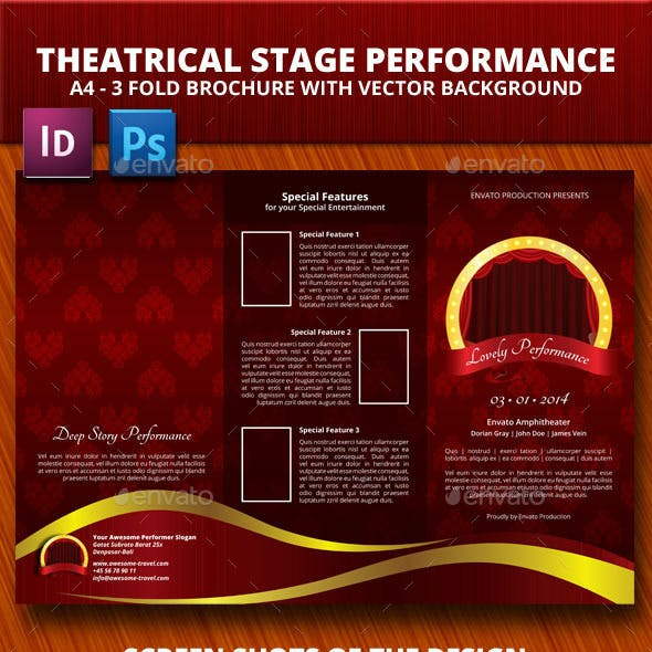 Theaterical Stage Performance Trifold Brochure