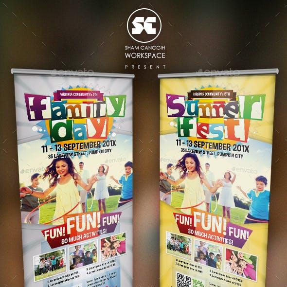 Family Summer Fest Banner
