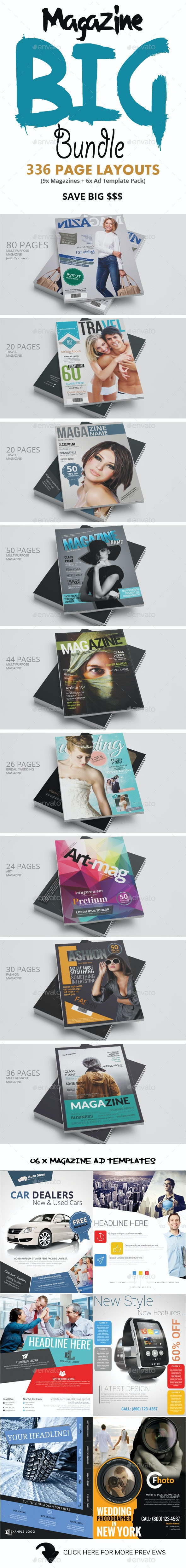 Photoshop Magazine Big Bundle - Magazines Print Templates