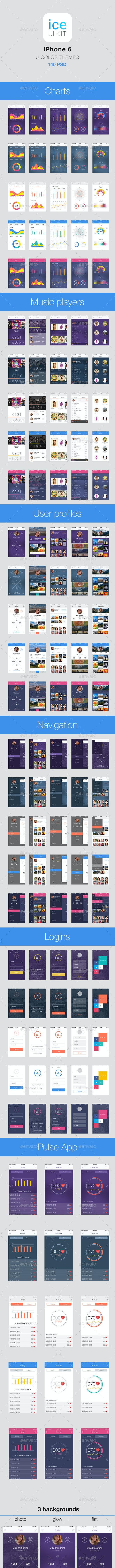Fresh Mobile UI - User Interfaces Web Elements