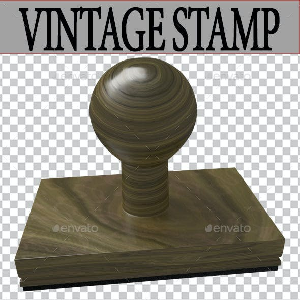 Vintage Stamp 3D Render
