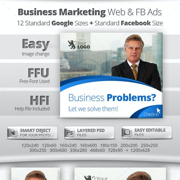 Business Marketing Web & Facebook Banners Ads