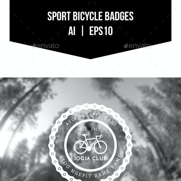 Sport Bicycle Badges