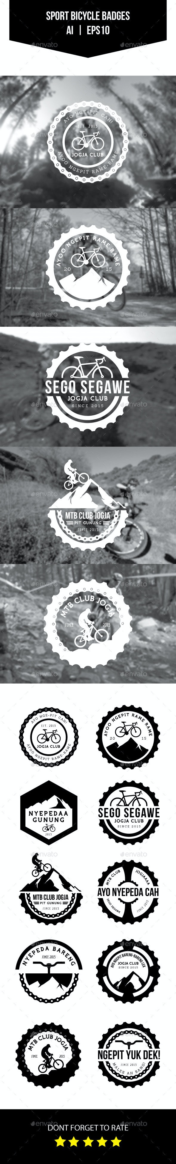 Sport Bicycle Badges - Badges & Stickers Web Elements