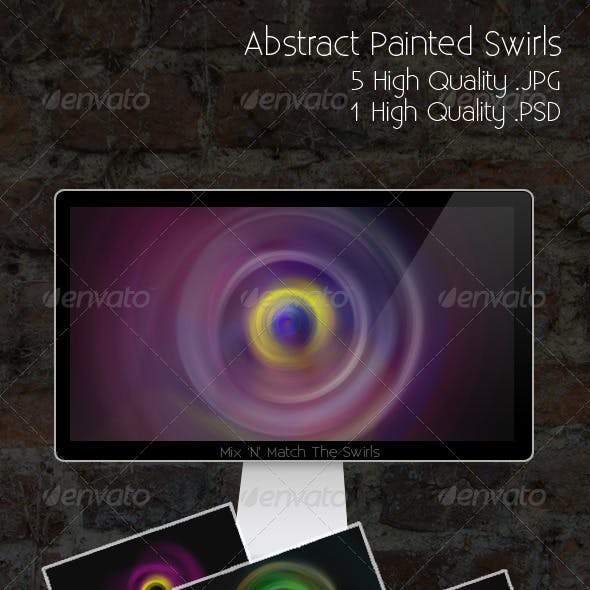 Abstract Painted Swirls