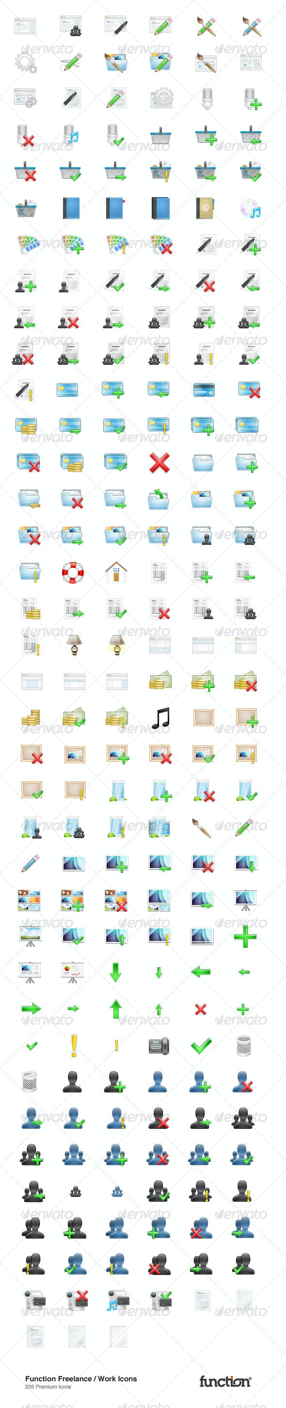 Function Freelance & Work Icons: 226 Icons - Business Icons